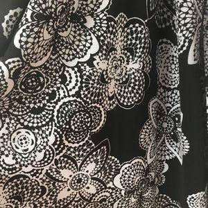Elle 1x Black & White Dress - Faux Wrap